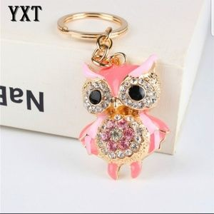 Other - PINK JEWELED OWL Keychain